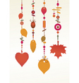 decorative wind chimes vector image vector image