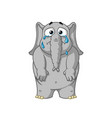 elephant cries throwing tears lowers his hands vector image vector image
