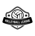 emblem template with volleyball ball isolated on vector image vector image