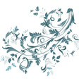 floral ornament for your design vector image vector image