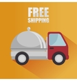 free shipping delivery icon vector image vector image