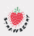 fruit strawberry icon vector image vector image