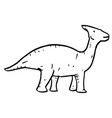 hand drawn doodle parasaurolophus vector image vector image