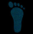 human footprint composition icon of halftone vector image vector image