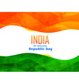 indian republic day design made with texture vector image vector image
