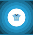 isolated t-shirt flat icon blouse element vector image vector image