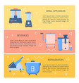 kitchen equipment concept flyer templates in flat vector image