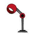 lamp office draw vector image