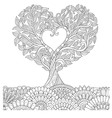 love tree in oct coloring vector image vector image