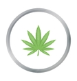 Marijuana leaf icon in cartoon style isolated on vector image vector image