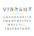 modern vibrant font stylized mulricolored letters vector image