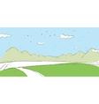 mountain landscape sketch vector image vector image