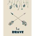Native Indian-American arrow vector image vector image