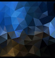 polygonal background in mocha brown and denim blue vector image vector image