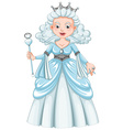 Queen with white hair vector image vector image