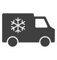 refrigerator car flat icon symbol vector image