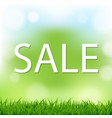 sale poster with bokeh vector image vector image