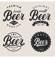 set lettering beer logo logotype label and vector image