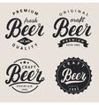 set of lettering beer logo logotype label vector image vector image