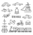Set retro vehicle vector image