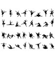 silhouettes of ballerinas vector image vector image