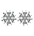 snowflake icon on white background vector image