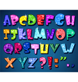 sparkling alphabet vector image vector image