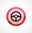 steering wheel circle pink triangle background vector image vector image