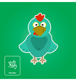 Stock icons with rooster and chinese zodiac vector image vector image
