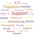 Support in different languages vector image