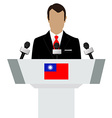 Taiwan flag speaker vector image vector image