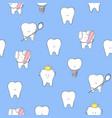 teeth seamless vector image vector image