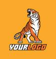tiger logo sign emblem animal vector image vector image