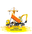 Under construction composition from transport vector image