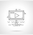 video advertising flat line icon vector image
