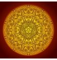 vintage circular pattern indian vector image vector image