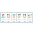 web site onboarding screens office presentation vector image vector image