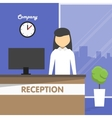 Workplace Secretary Receptionist office vector image