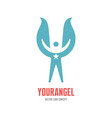your angel - logo template concept vector image
