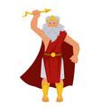 zeus greek god isolated male character elderly man vector image vector image