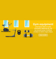 gym equipment banner horizontal concept vector image
