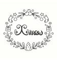 Xmas Card Winter Holiday Typography Handdrawn vector image