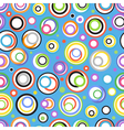Abstract seamless background of color circles vector image