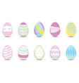 easter eggs for decoration vector image