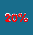 20 off a discount of ten percent numbers in the vector image vector image