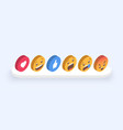 abstract isometric set of emoticons emoji flat vector image
