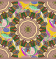 abstract stylized colored mandala intricate vector image vector image