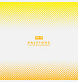 abstract yellow dotted line halftone effect vector image vector image