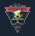 adventure graphic with a scary skull vector image