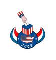 American Election Voting Ballot Box Retro vector image